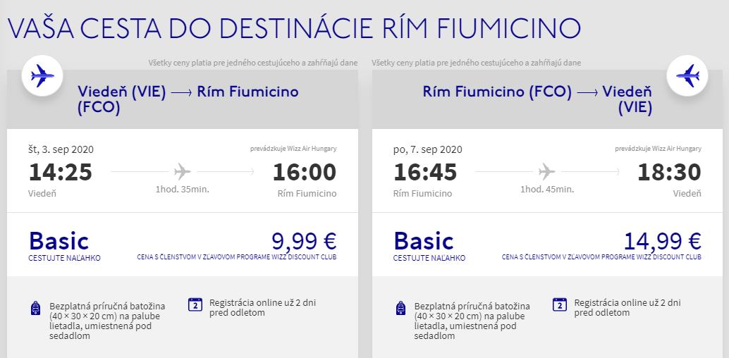 TALIANSKO - Rím z Viedne aj na predĺžený víkend s letenkami od 25 eur
