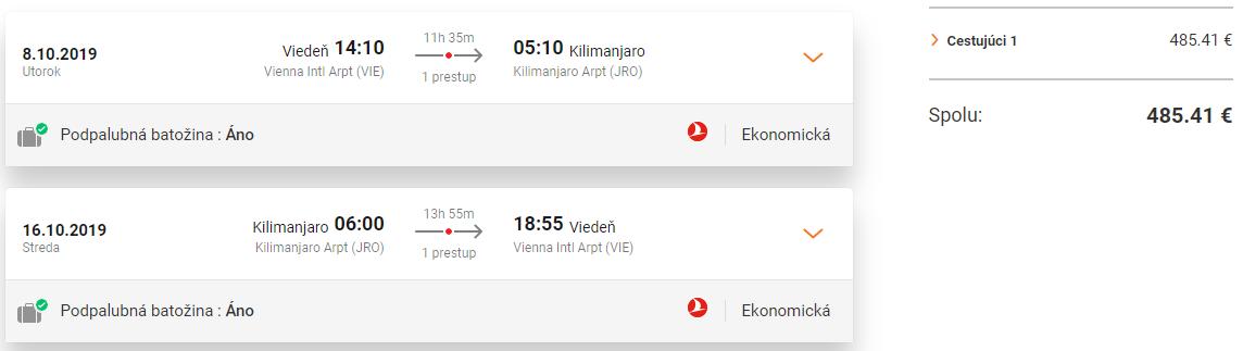 TANZÁNIA - Kilimanjaro z Viedne s Turkish Airlines od 485 eur