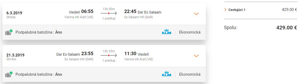 TANZÁNIA - Z Viedne do Dar Es Salaam s letenkami od 429 eur