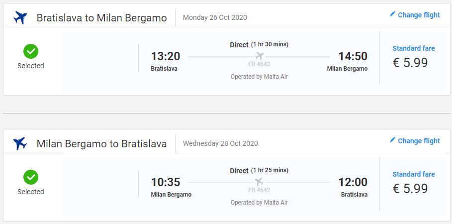 Talianske Bergamo z Bratislavy s letenkami od 12 eur