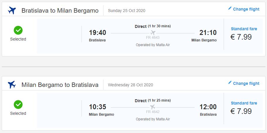 Talianske Bergamo z Bratislavy s letenkami od 16 eur