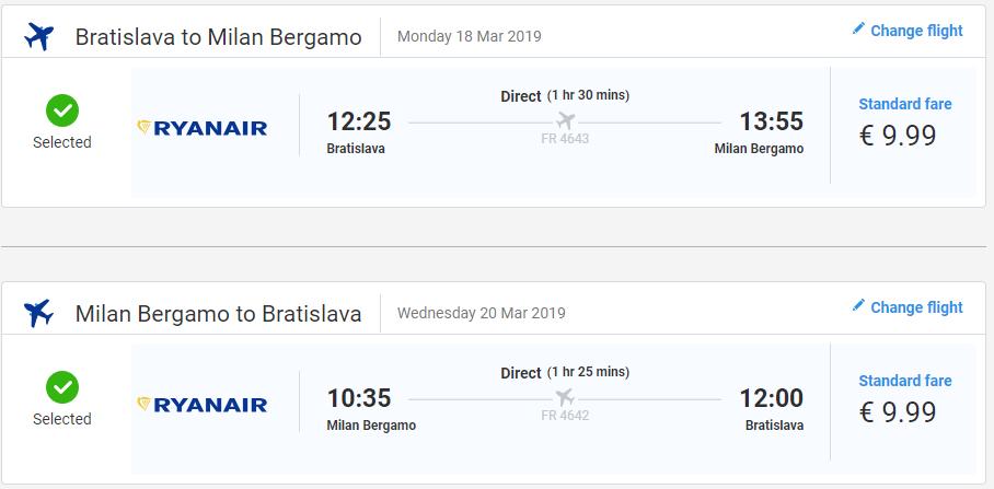 Talianske Bergamo z Bratislavy s letenkami od 20 eur