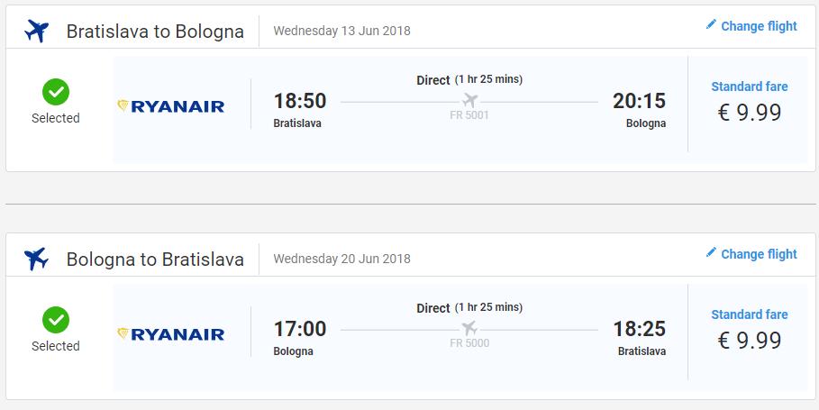 Taliansko - Bologna z Bratislavy od 20 eur