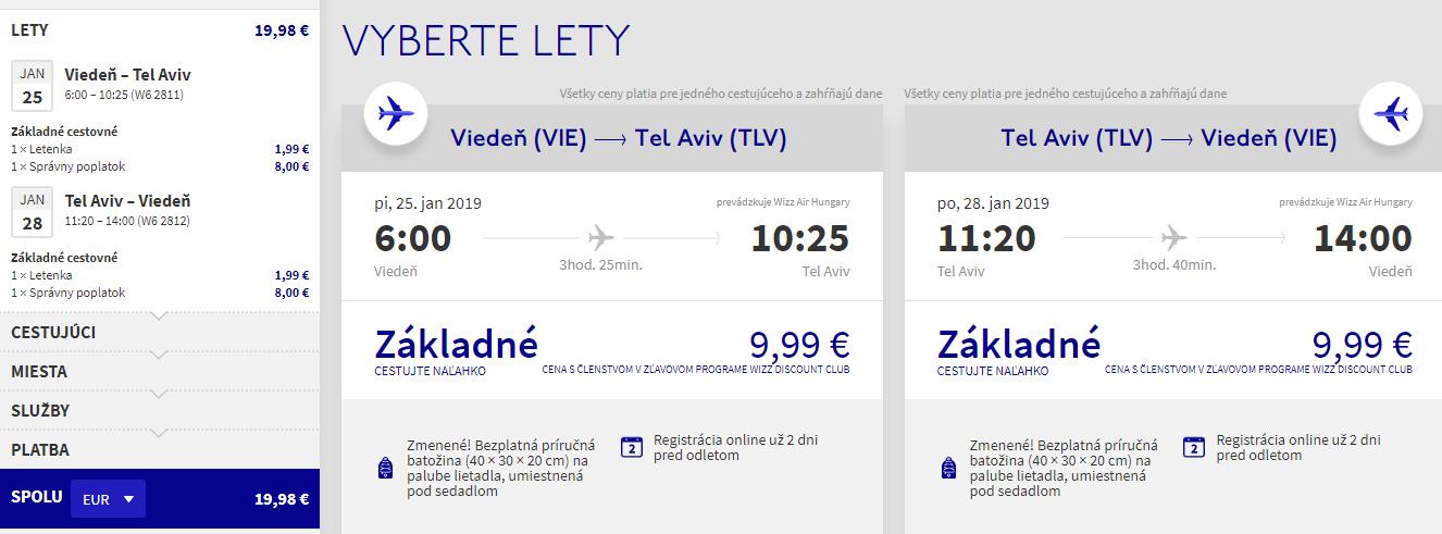 Tel Aviv z Viedne aj na predĺžený víkend s letenkami od 20 eur