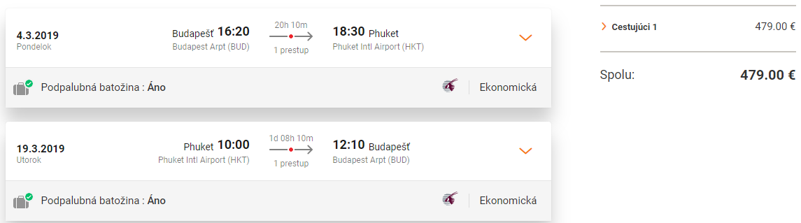Thajský Phuket s letenkami od Qatar Airways od 479 eur