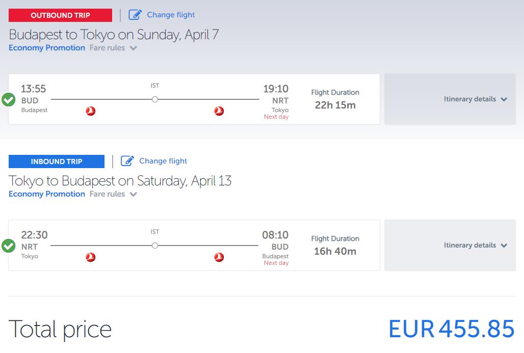Tokio z Budapešti s Turkish Airlines. Spiatočné letenky od 456 eur