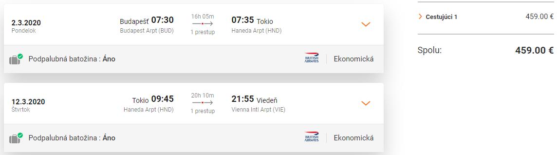 Tokio z Budapešti s letenkami od 459 eur