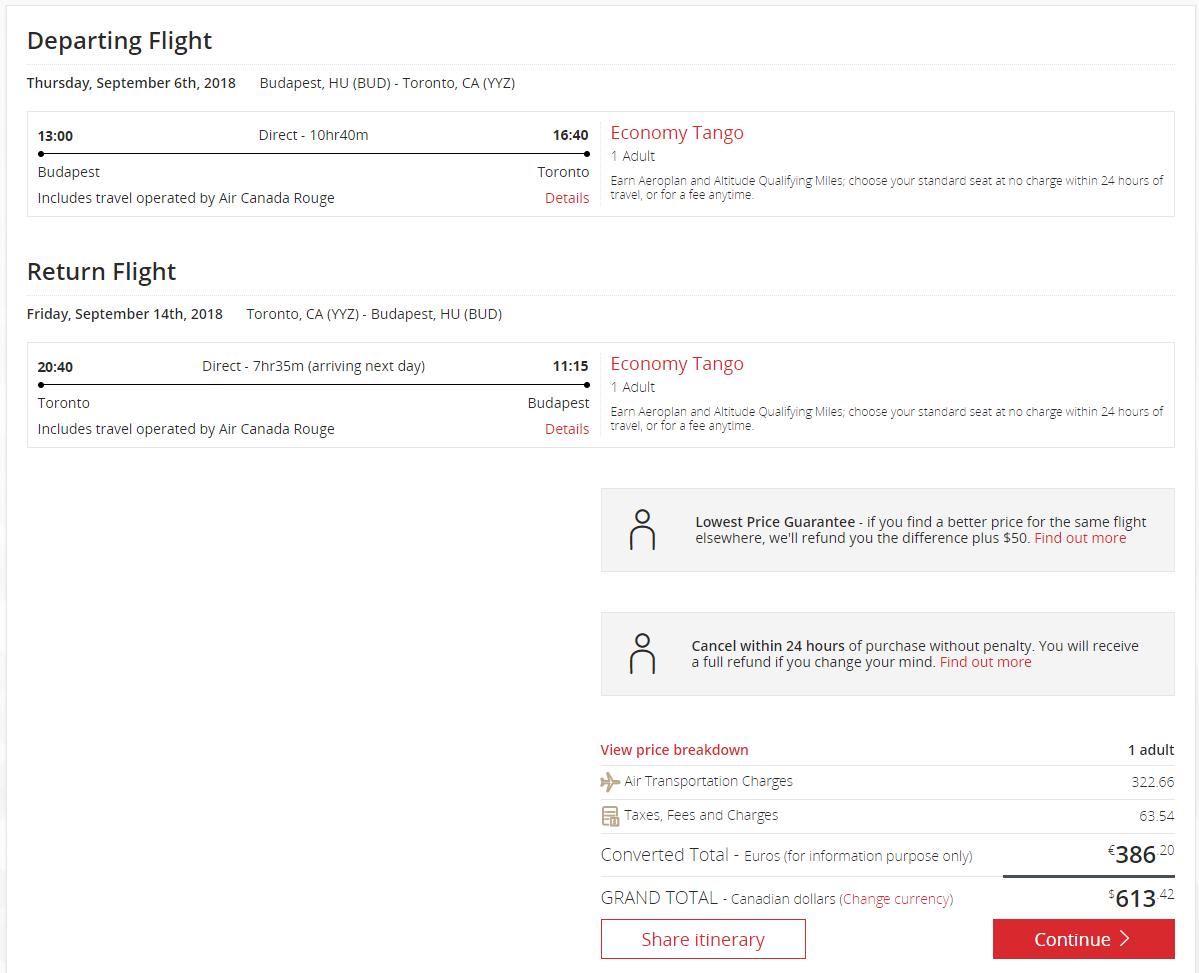 Toronto z Budapešti s Air Canada už od 386 eur