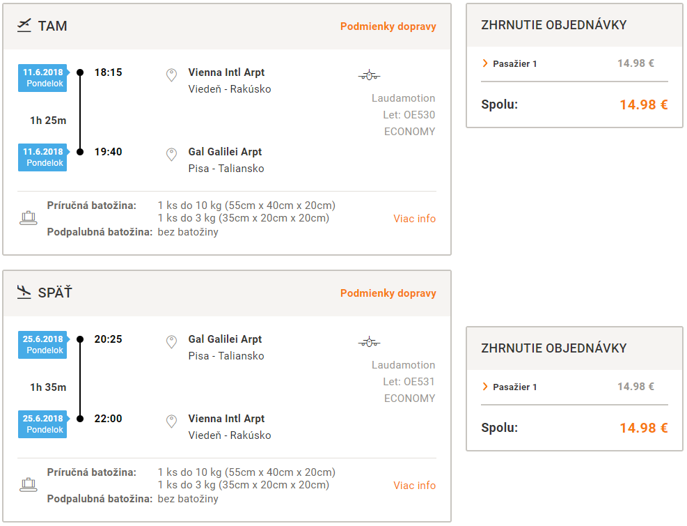 Toskánsko z Viedne v júnových termínoch od 15 eur