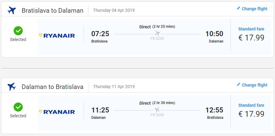 Turecký Dalaman z Bratislavy s letenkami od 35 eur
