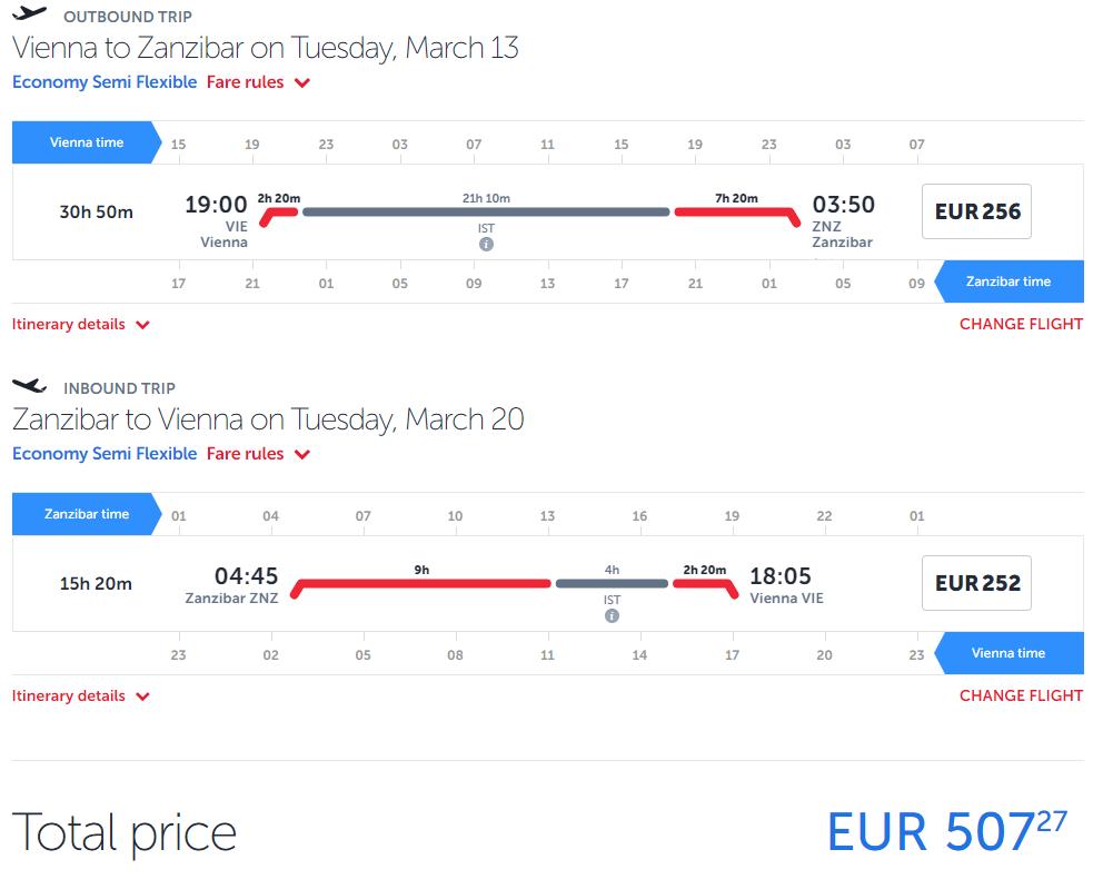 Turkish Airlines - Zanzibar z Viedne od 507 eur