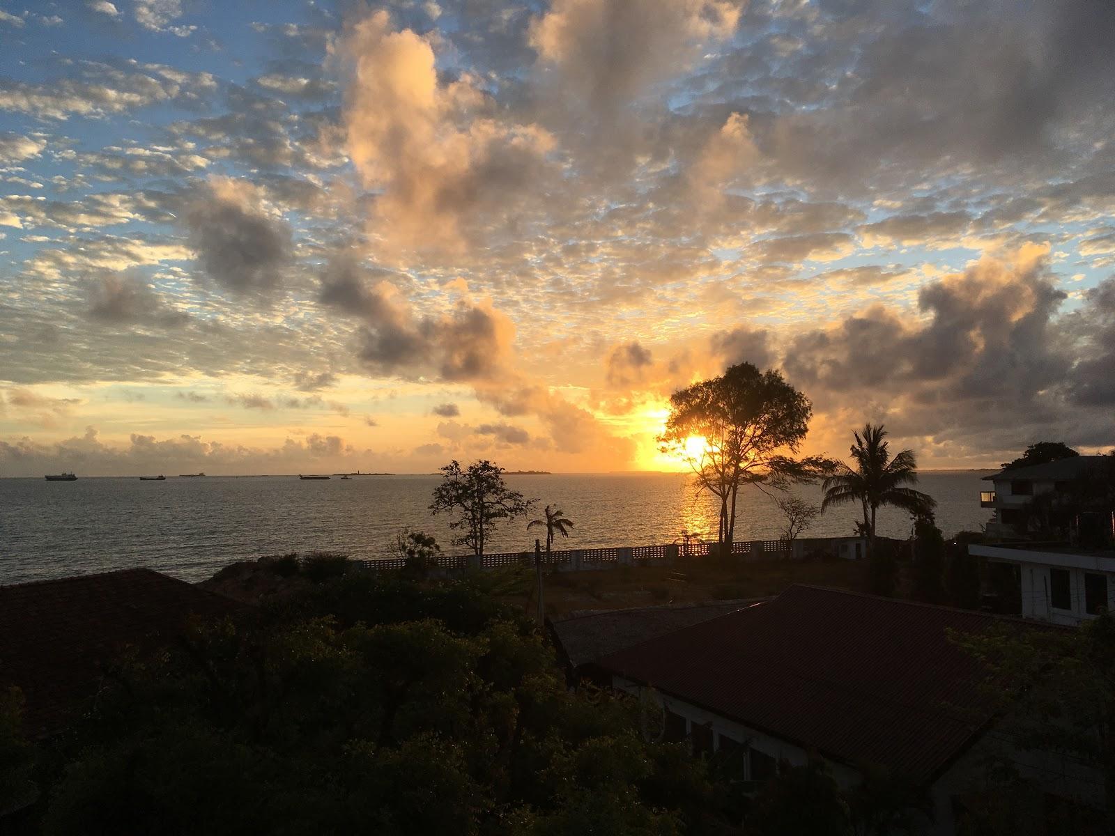 Výhľad z nášho ubytovania v Dar Es Salaam