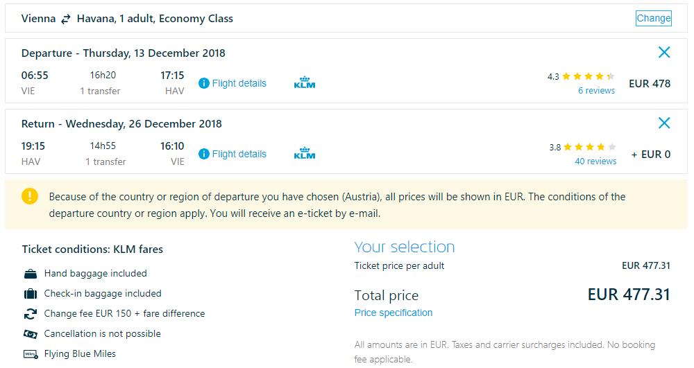 VIANOCE NA KUBE - Spiatočné letenky z Viedne do Havany od 477 eur