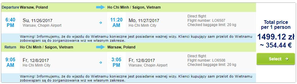 VIETNAM Charterové letenky z Varšavy do Hočiminovho mesta od 354 eur