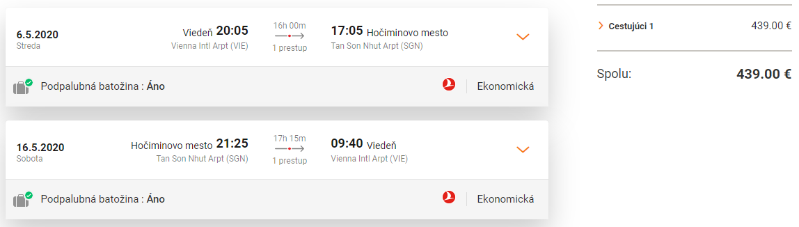 VIETNAM S TURKISH AIRLINES - Hočiminovo Mesto z Viedne s letenkami od 439 eur