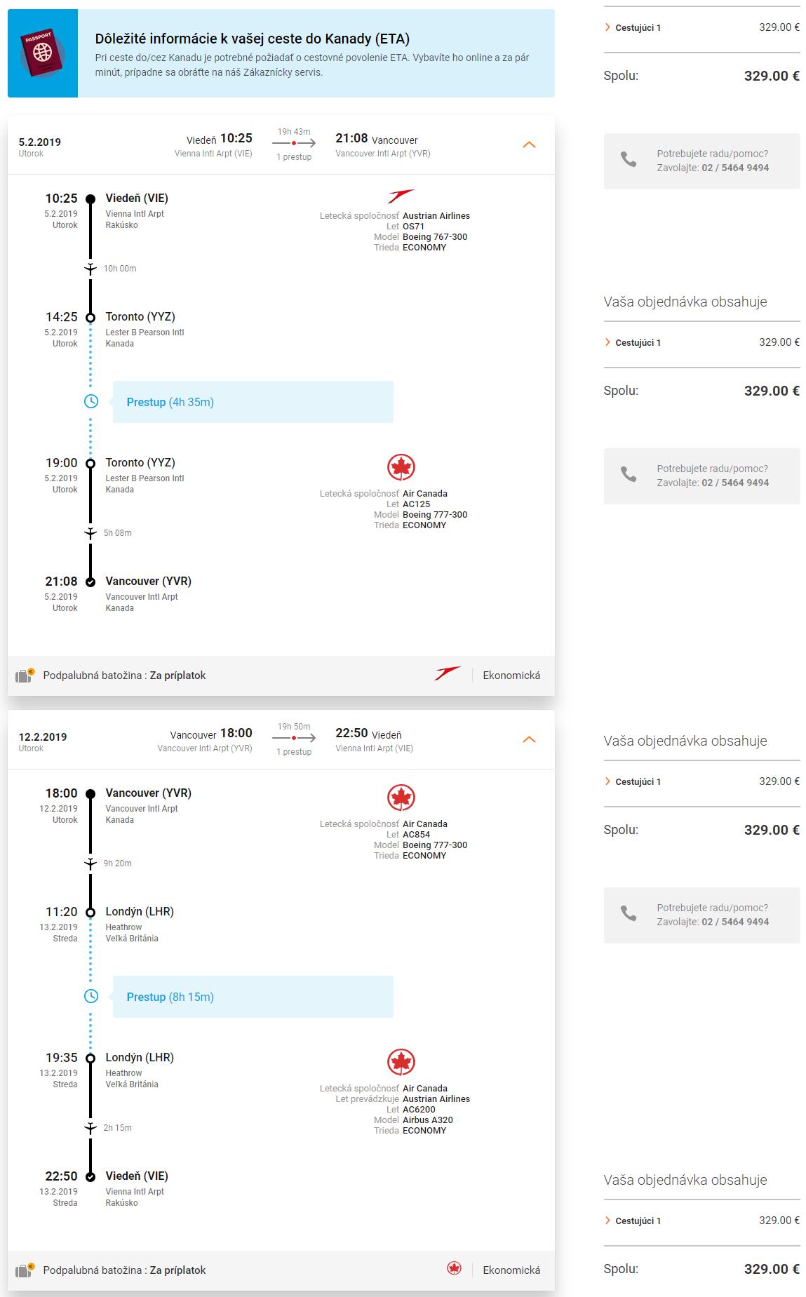 Vancouver z Viedne s letenkami od 329 eur