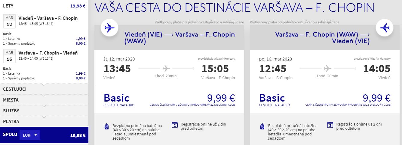 Varšava z Viedne s letenkami od 20 eur