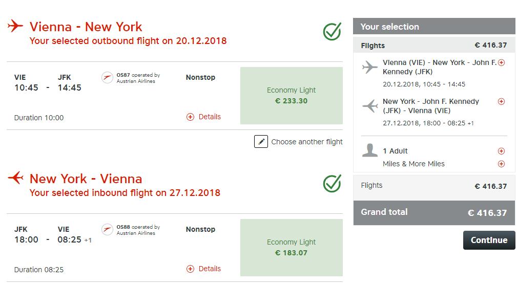Vianoce, New York a priame lety z Viedne s Austrian Airlines už od 416 eur