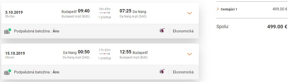 Vietnamský Da Nang z Budapešti s letenkami od 499 eur