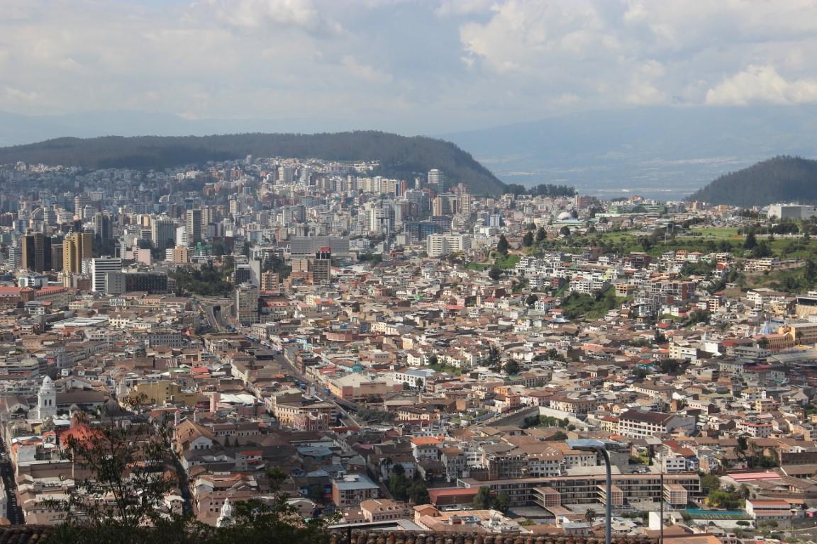 Výhľad na Quito - Ecuador