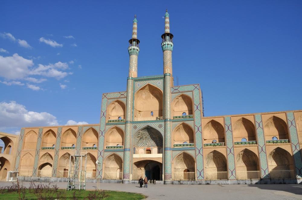 Yazd - symbol mesta je brána Amir Čakmak