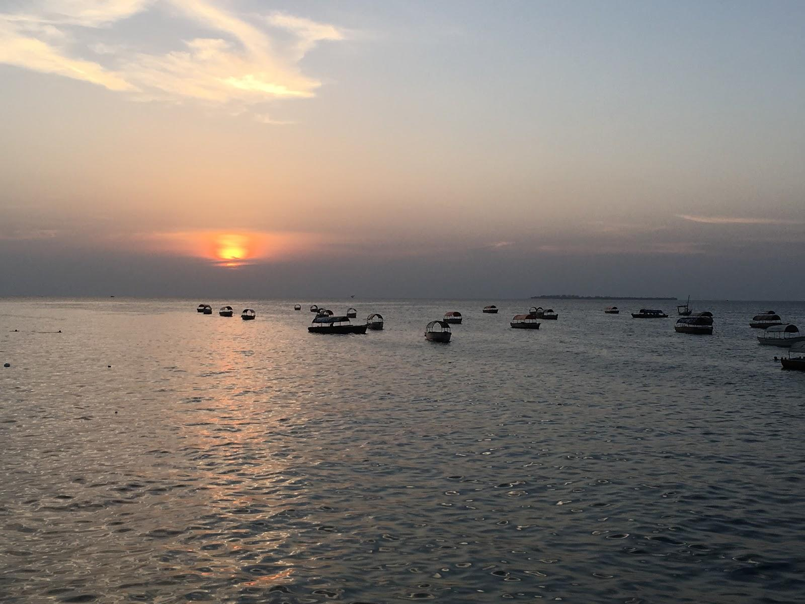 Západ slnka v Stone Town, Zanzibar