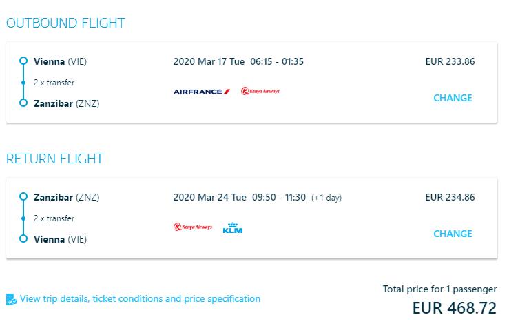 ZANZIBAR - Akciové letenky z Viedne už od 469 eur