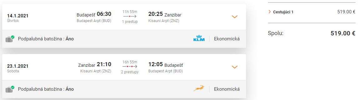 ZANZIBAR - Letenky z Budapešti začiatkom roka od 519 eur