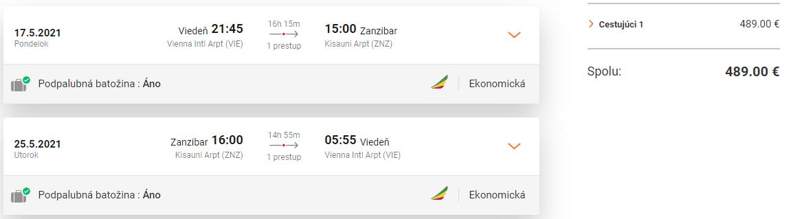 ZANZIBAR - Spiatočné letenky z Viedne od 489 eur