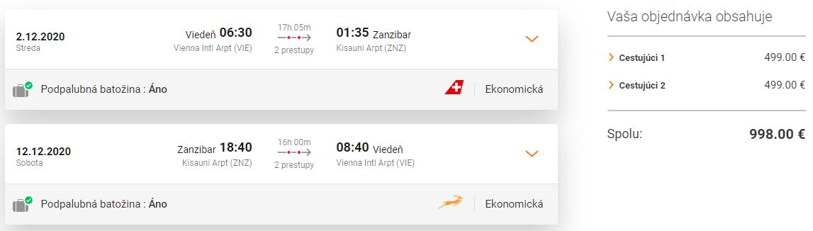 ZANZIBAR - Spiatočné letenky z Viedne už od 499 eur