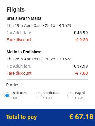 Z Bratislavy na Maltu od 67 eur