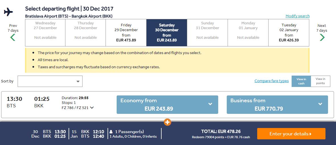 Z Bratislavy do Bangkoku počas Silvestra s letenkami od 478 eur