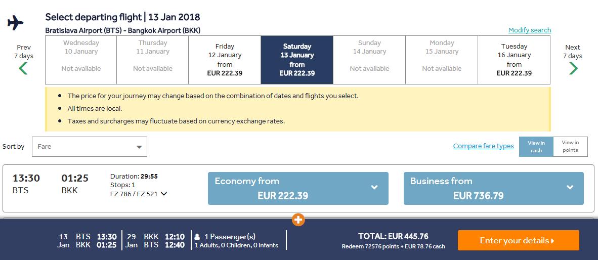 Z Bratislavy do Bangkoku s letenkami od 446 eur