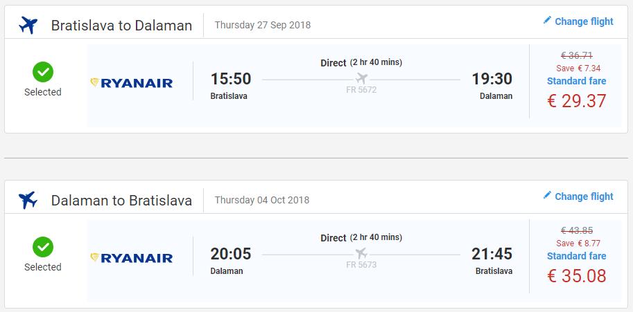 Z Bratislavy do tureckého Dalamanu koncom sezóny už od 64 eur