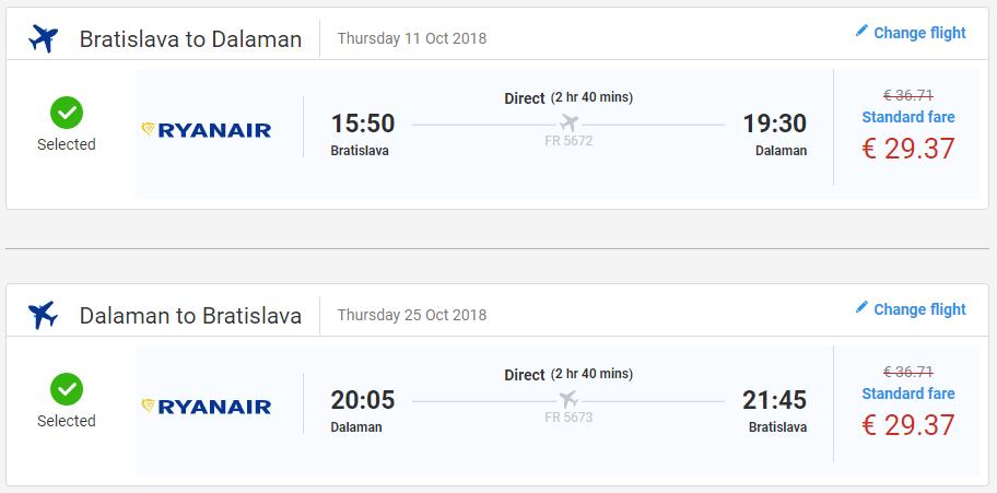 Z Bratislavy do tureckého Dalamanu už od 59 eur