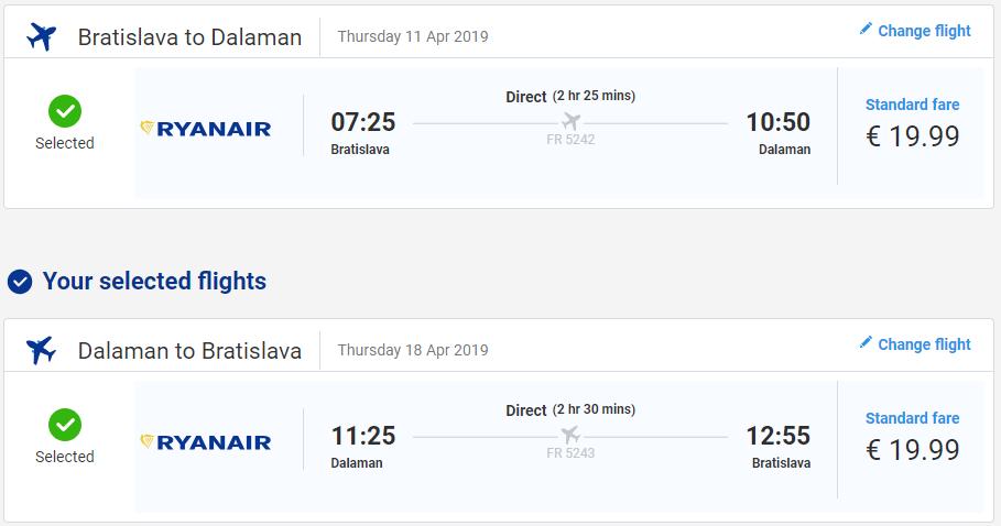 Z Bratislavy do tureckého Dalamanu v aprílových termínoch. Spiatočné letenky už od 40 eur