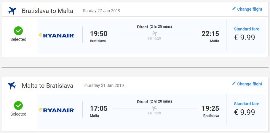 Z Bratislavy na Maltu s letenkami už od 20 eur