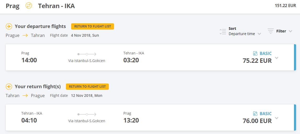 Z Prahy do Teheránu v májových termínoch už od 151 eur