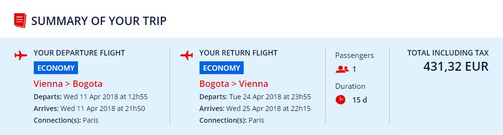 Z Viedne do Bogoty s letenkami od 431 eur