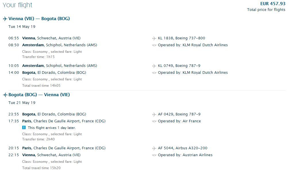 Z Viedne do Bogoty s letenkami od 458 eur