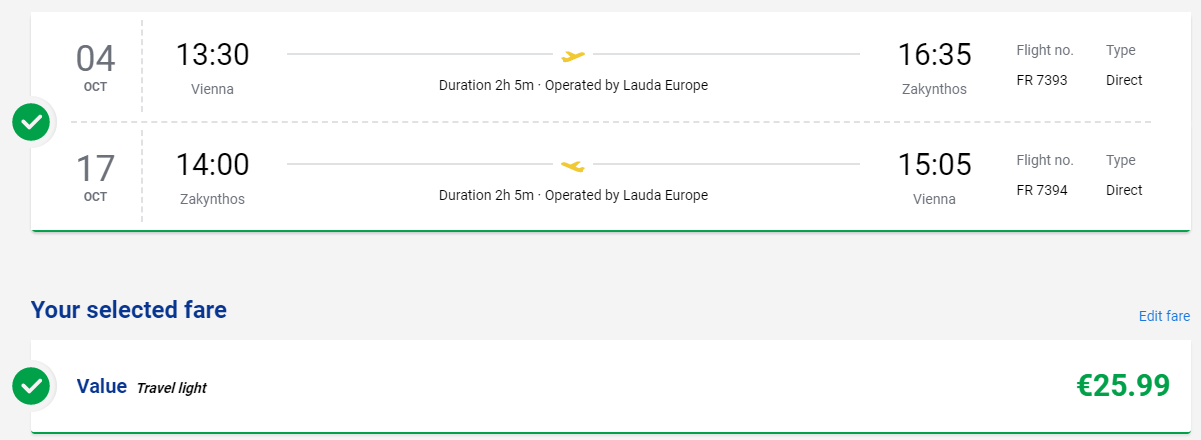Zakyntos z Viedne koncom sezóny s letenkami od 26 eur