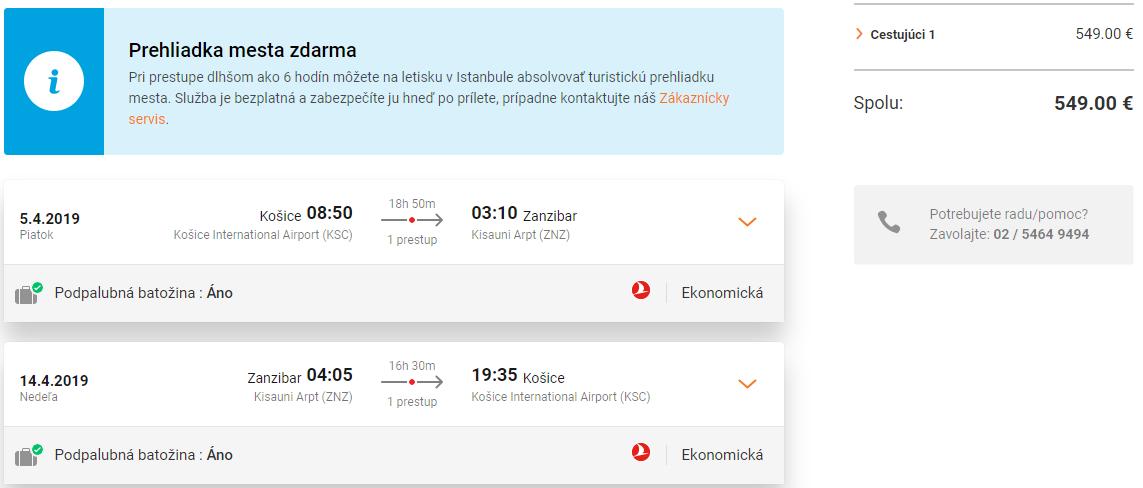 Zanzibar z Košíc s let.spoločnosťami Turkish Airlines od 549 eur