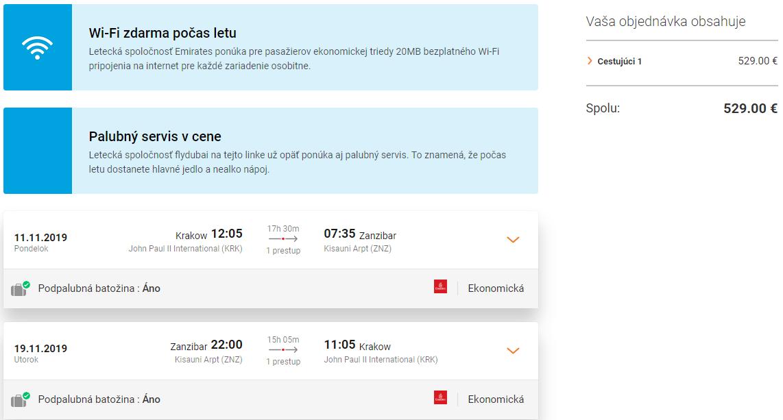 Zanzibar z Krakova. Spiatočné letenky od 529 eur