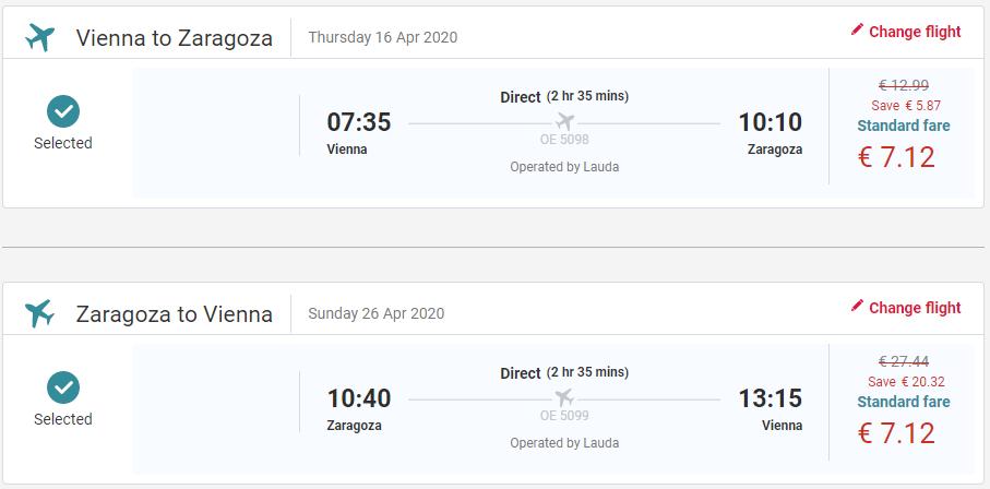 Zaragoza z Viedne v jarných termínoch s letenkami od 14 eur