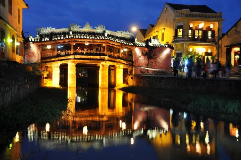 Hoi An – čarovný Japonský most.