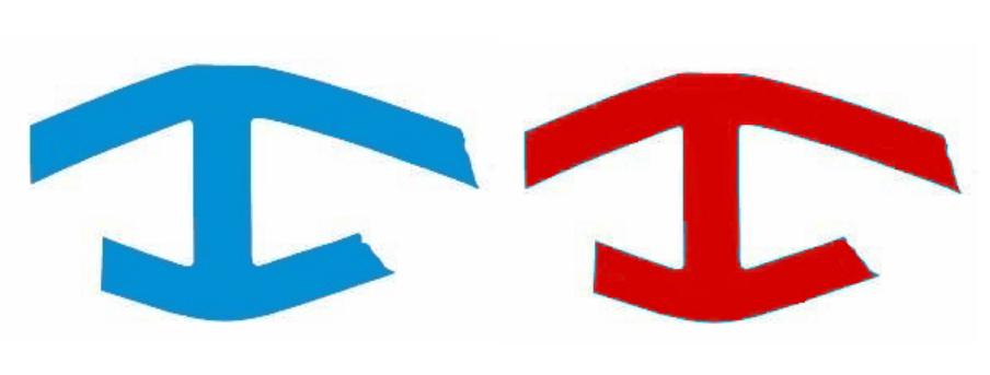 Modrý označuje turistické casy, červený zas lokálne