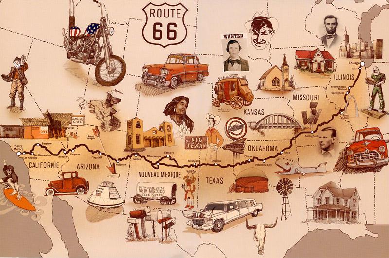 Trasa slávnej Route 66