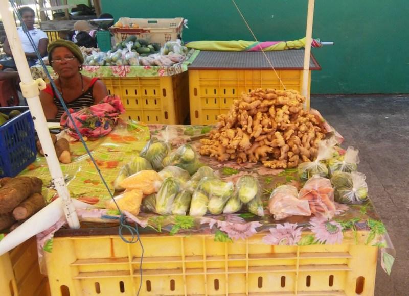 Trh s ovocím a zeleninou, ktorý sa zaraďuje medzi najlepšie v Karibiku.